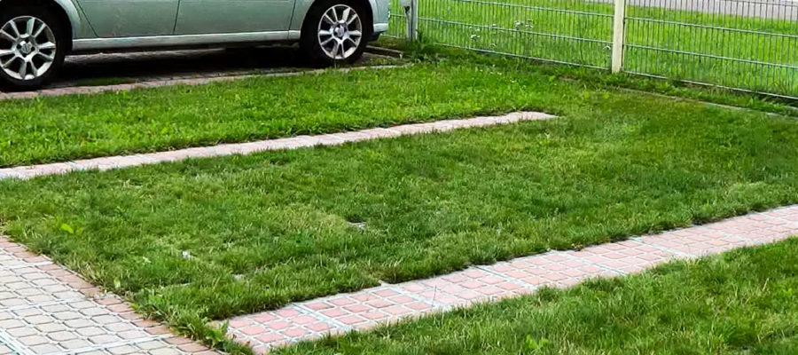 Газонная решётка сохранит газон под колесами автомобиля