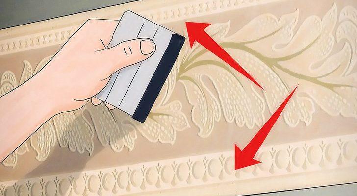 Как располагать и клеить обойные бордюры