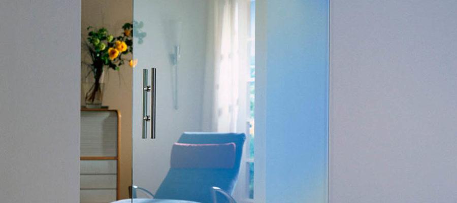Межкомнатные стеклянные двери для кухни