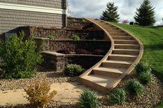 Типы деревянных подпорных стен