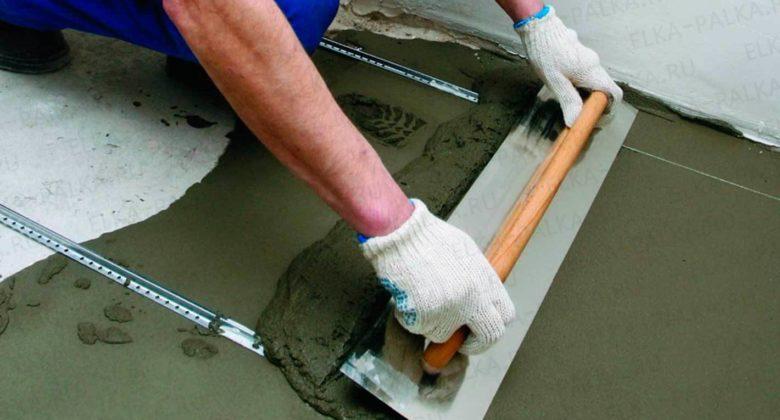 устройство цементно песчаной стяжки