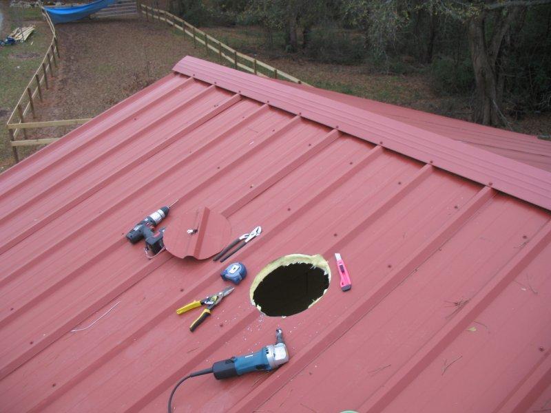 Пробоины крыши