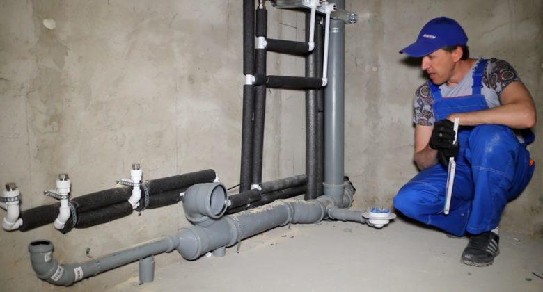 замена старых канализационных труб в квартире